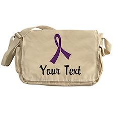 Personalized Purple Ribbon Awareness Messenger Bag