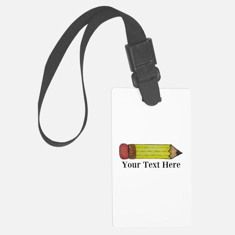 Personalizable Pencil Luggage Tag