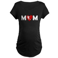 Lacrosse Heart Mom Maternity T-Shirt
