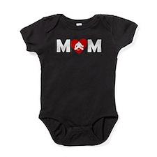 Hockey Goalie Heart Mom Baby Bodysuit