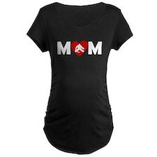 Hockey Goalie Heart Mom Maternity T-Shirt