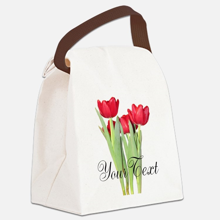 Personalizable Tulips Canvas Lunch Bag