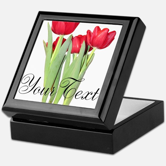 Personalizable Tulips Keepsake Box
