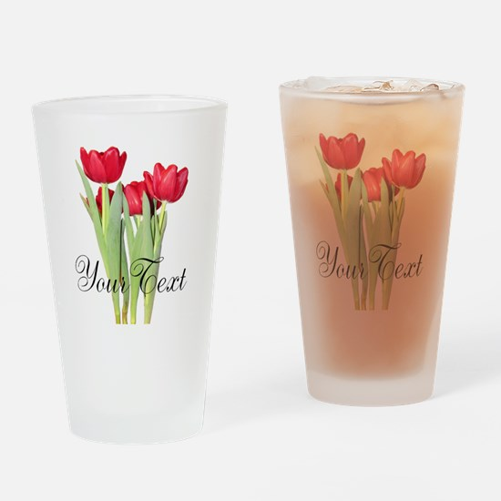 Personalizable Tulips Drinking Glass