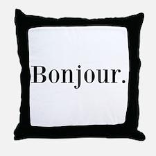 Bonjour Throw Pillow