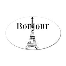 Bonjour Eiffel Tower Wall Decal