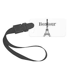 Bonjour Eiffel Tower Luggage Tag