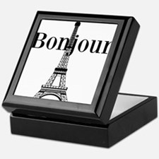 Bonjour Eiffel Tower Keepsake Box