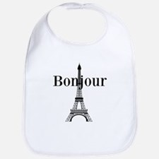 Bonjour Eiffel Tower Bib