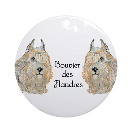 Bouvier des Flandres Ornament (Round)