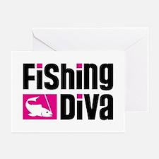 Fishing Diva Greeting Cards (Pk of 10)