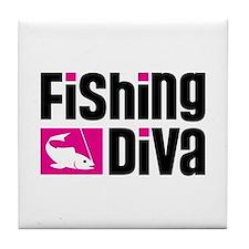 Fishing Diva Tile Coaster
