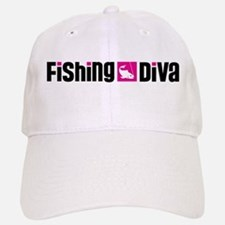 Fishing Diva Baseball Baseball Cap