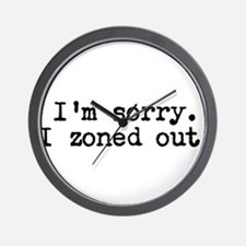 Im sorry. I zoned out. Wall Clock