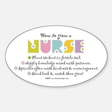 How to Grow a Nurse Oval Decal