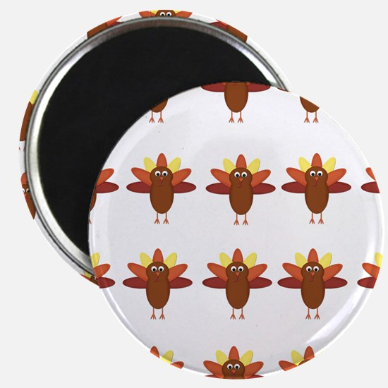 Cute Thanksgiving Turkeys Magnets