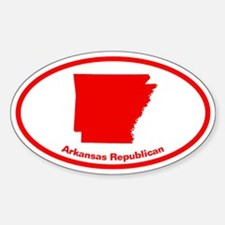 Arkansas RED STATE Oval Decal