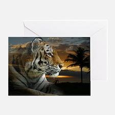 Tiger Sunset Greeting Cards