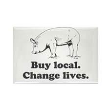 Buy local. Change lives. Magnets