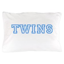 TWINS in Blue Pillow Case