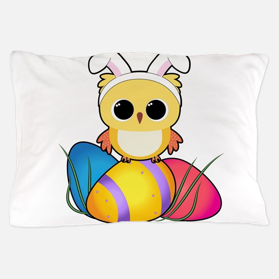 Easter Owl Pillow Case