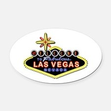 Fabulous Las Vegas Oval Car Magnet
