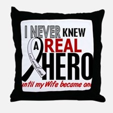 Carcinoid Cancer Real Hero 2 Throw Pillow