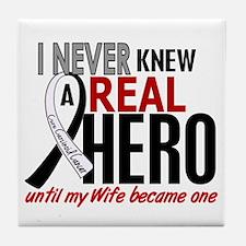Carcinoid Cancer Real Hero 2 Tile Coaster
