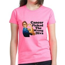 Rosie Cancer Picked The Wrong Diva T-Shirt