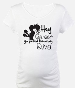 Hey Cancer You Picked The Wrong Diva Shirt