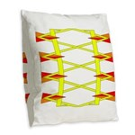 Triangle Glyph 04 H Burlap Throw Pillow