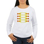 Triangle Glyph 04 H Women's Long Sleeve T-Shirt