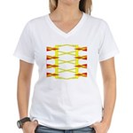 Triangle Glyph 04 H Women's V-Neck T-Shirt