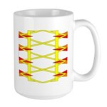 Triangle Glyph 04 H Large Mug