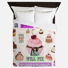 Pink Cupcake Queen Duvet