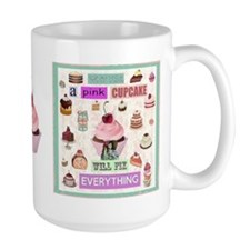 Pink Cupcake MugMugs