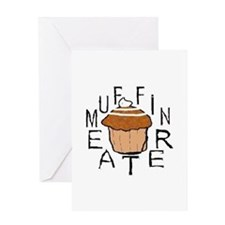 Muffin Eater Greeting Card