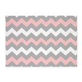 Pink and gray chevron 5x7 Rugs
