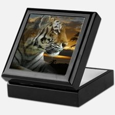 Tiger Sunset Keepsake Box