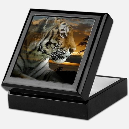 Tiger Sunset Keepsake Box