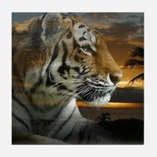 Tiger Sunset Tile Coaster