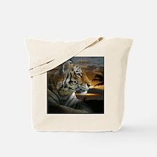 Tiger Sunset Tote Bag