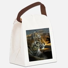 Tiger Sunset Canvas Lunch Bag