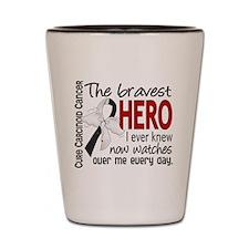 Carcinoid Cancer Bravest Hero Shot Glass