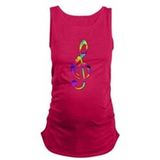 Treble Clef - paint splattered Maternity Tank Top