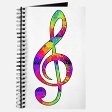 Treble Clef - paint splattered Journal