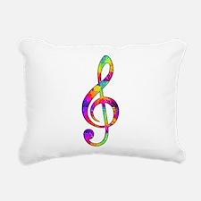 Treble Clef - paint spla Rectangular Canvas Pillow