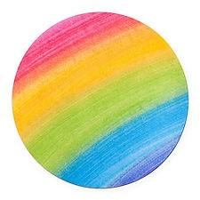 Acrylic Rainbow Round Car Magnet
