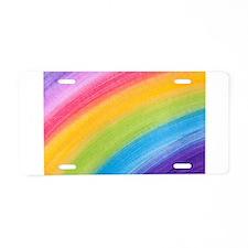 Acrylic Rainbow Aluminum License Plate