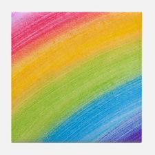 Acrylic Rainbow Tile Coaster